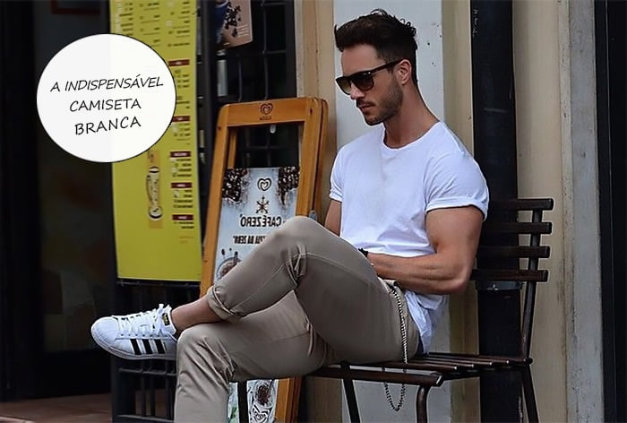 camisa branca masculina como usar homens que se cuidam destaque