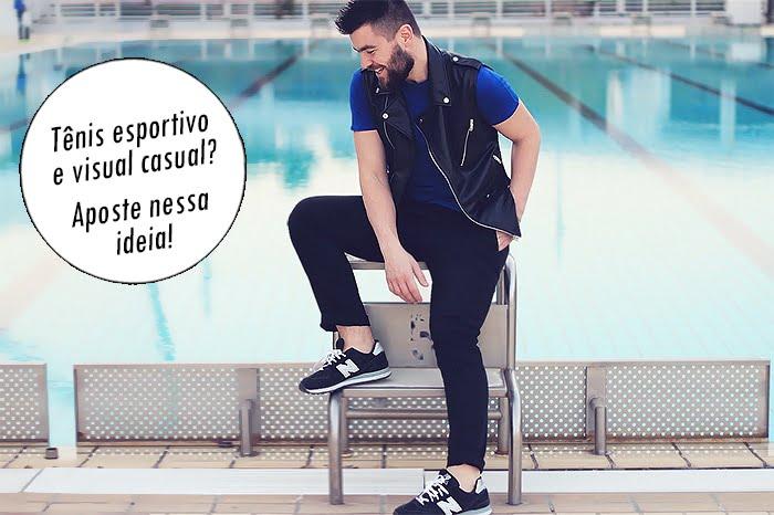 0 Tênis esportivos em looks masculinos casuais Homens que se cuidam destacado 2