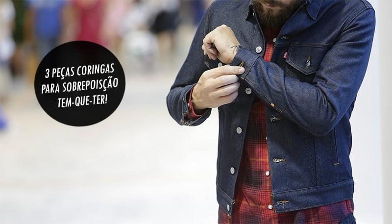 3 peças moda masculina para sobreposição homens que se cuidam 0