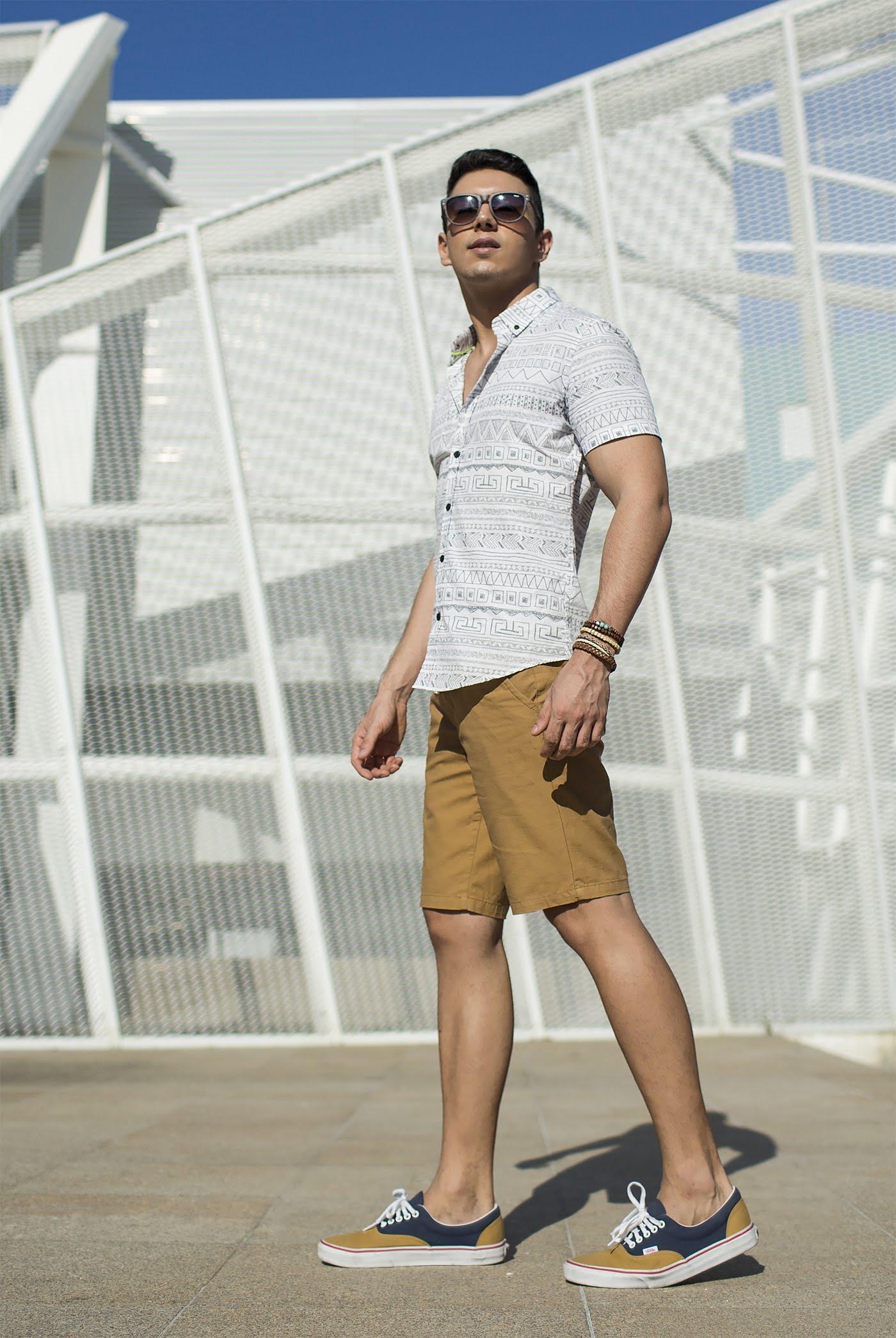 Estilo HQSC Juan Alves Camisa manga curta étnica 1