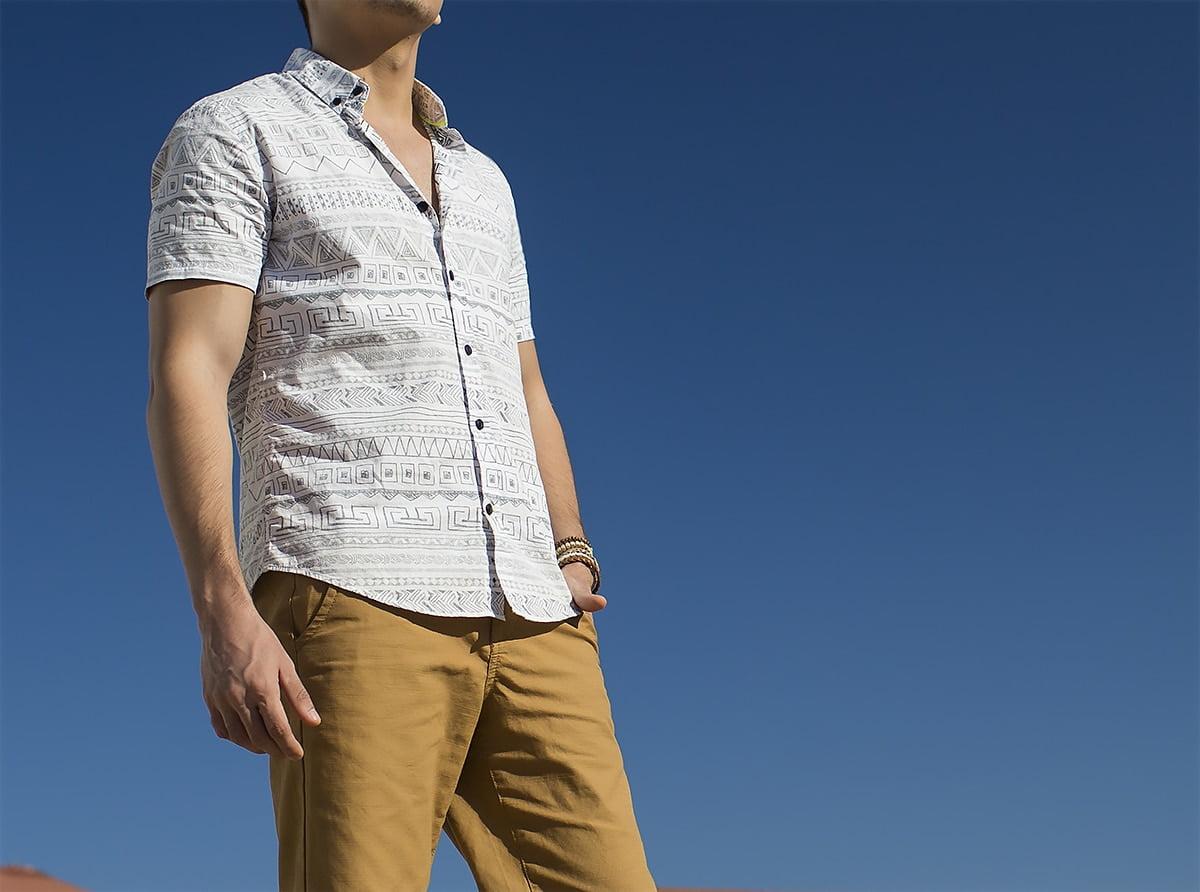 Estilo HQSC Juan Alves Camisa manga curta étnica 6