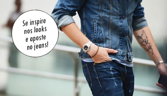 Looks All Jeans Homens que se cuidam destacado