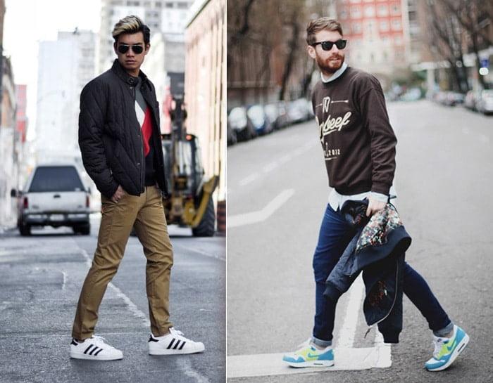Tênis esportivos em looks masculinos casuais Homens que se cuidam 5