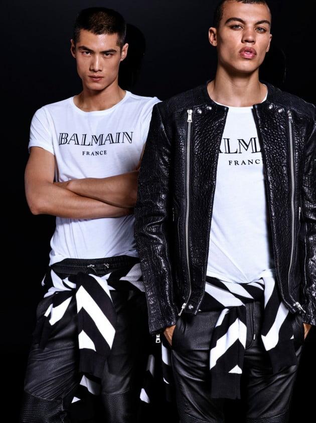 A coleção masculina da H&M e Balmain Homens que se cuidam 9