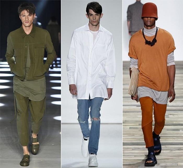 tendência camisa comprida oversized masculina homens que se cuidam 2