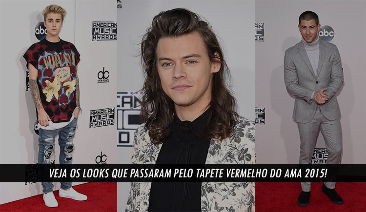 Looks Masculinos do american music awards 2015 Homens que se cuidam