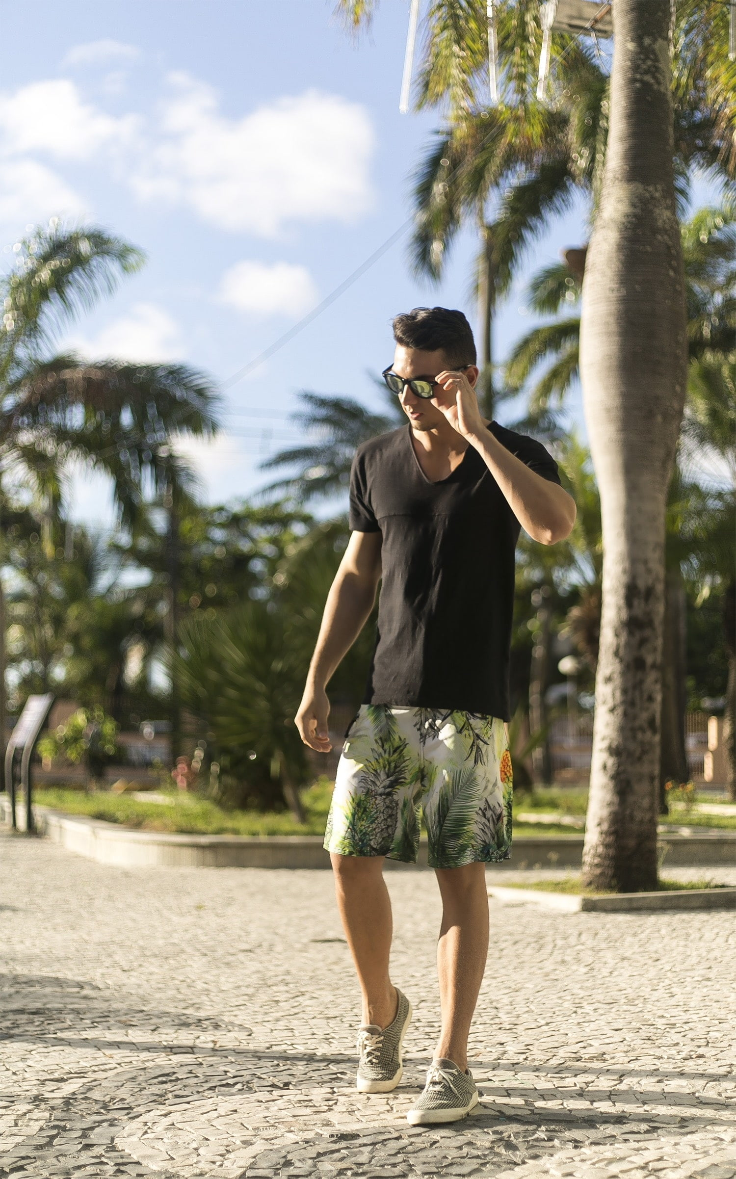 Estilo HQSC Bermuda floral homens que se cuidam 1