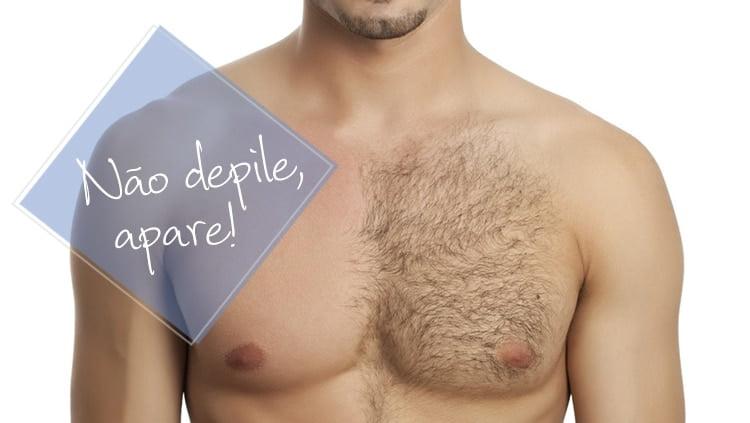 Não depile, apare Homens que se cuidam 1