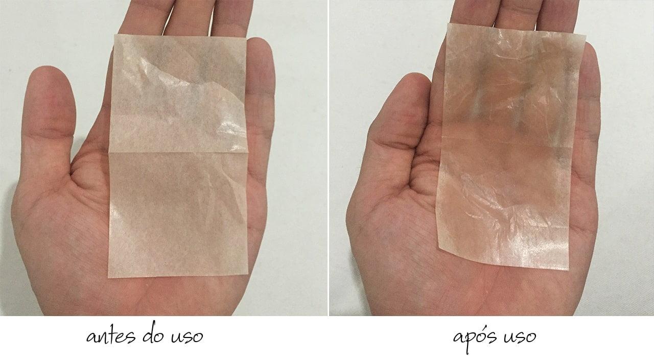 Antes e depois da folh antibrilho