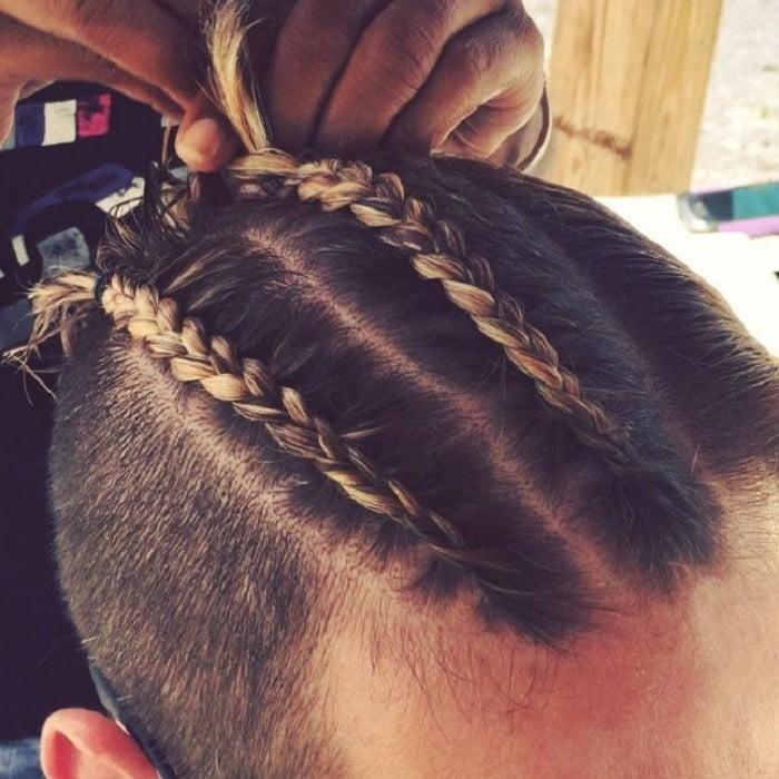 Trança no cabelo masculino Homens que se cuidam 4