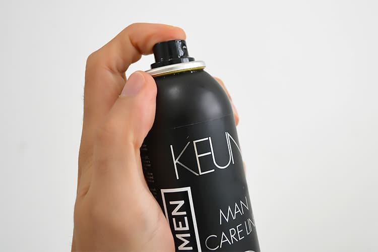 como usar spray fixador Power Fix Magnify da Keune Homens que se cuidam 2 2