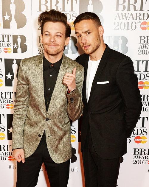 Louis Tomlinson e Liam Payne Brit Awards 2016 Homens que se cuidam