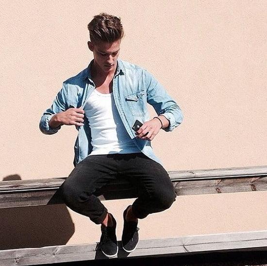 1 1 Como usar camisa jeans Dica 1A