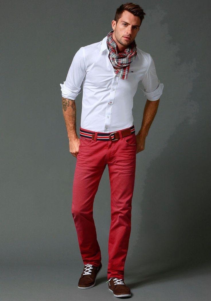 Looks masculinos com vermelho homens que se cuidam 7