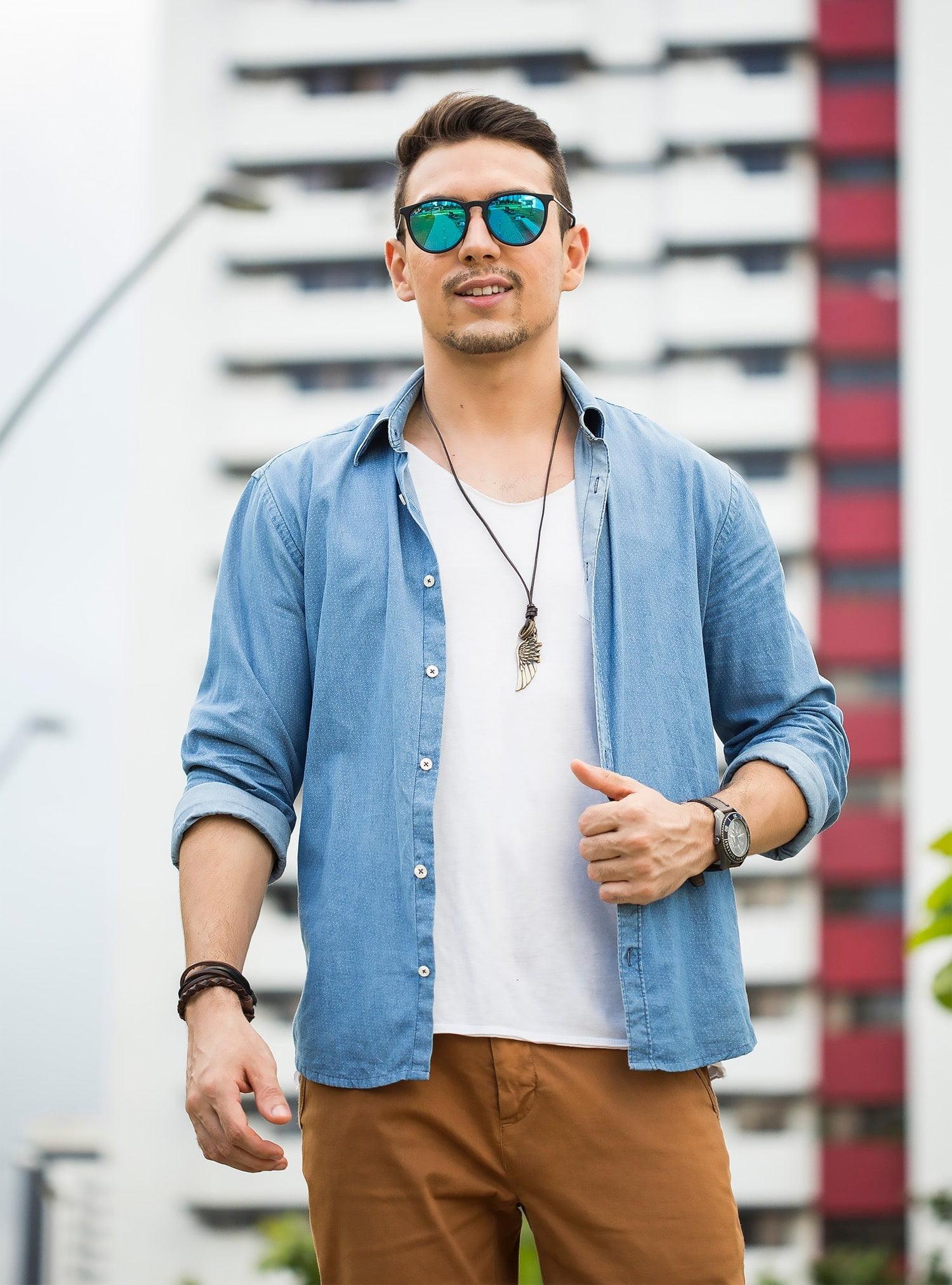 4 Juan Alves poá e chino moda masculina homens que se cuidam