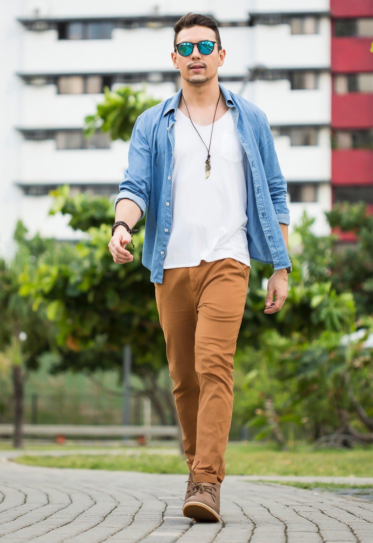 6 6 Juan Alves poá e chino moda masculina homens que se cuidam
