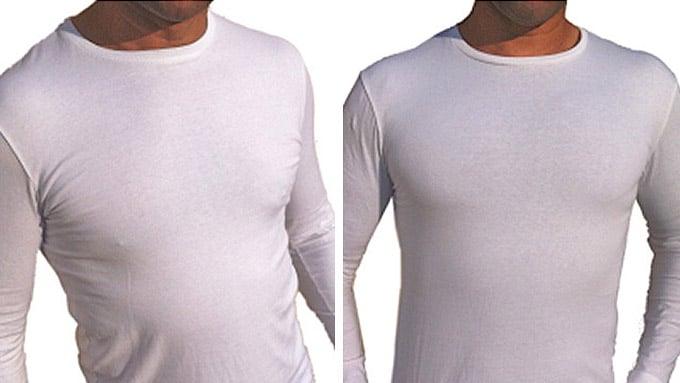 2 Camiseta com enchimento masculina homens que se cuidam
