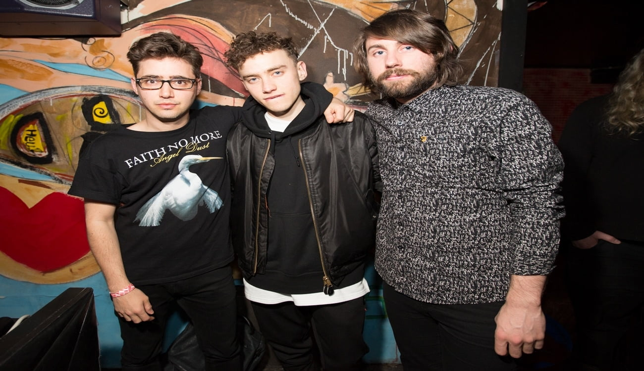 Years & Years (Olly Alexander, Mikey Goldsworthy & Emre Turkmen) backstage at the Years and Years Afterparty at STUDIO at W Union Square on March 31, 2015