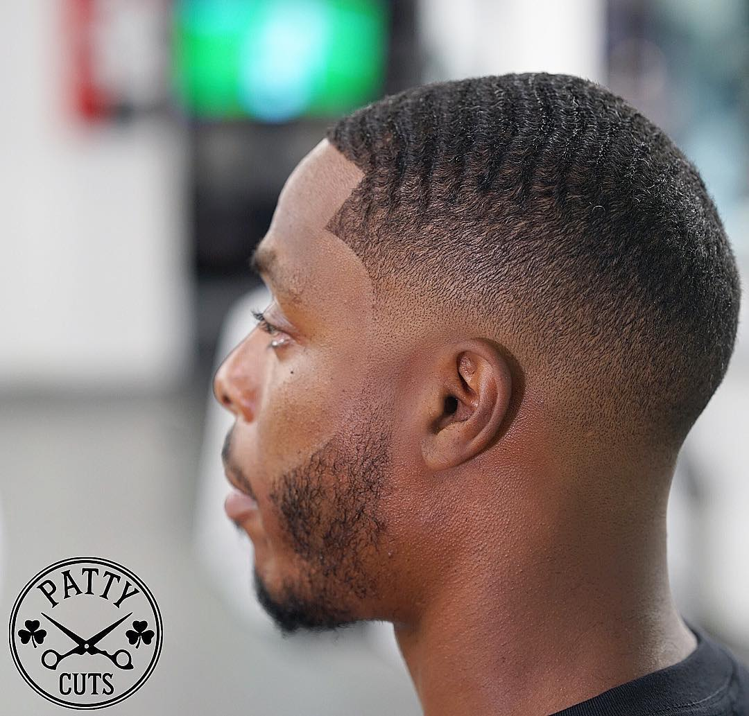 bald fade and waves