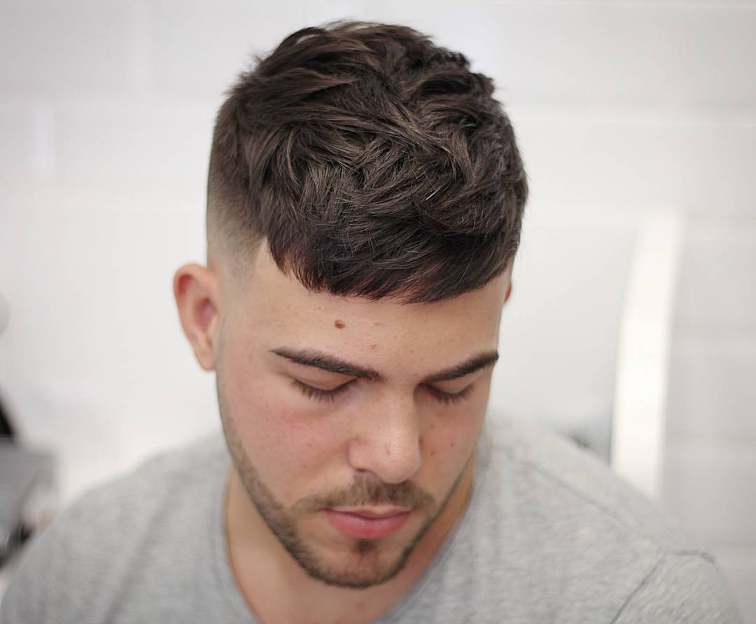 textured short and fade