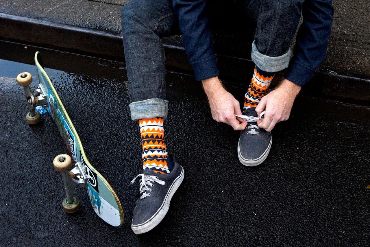 meias coloridas masculina a