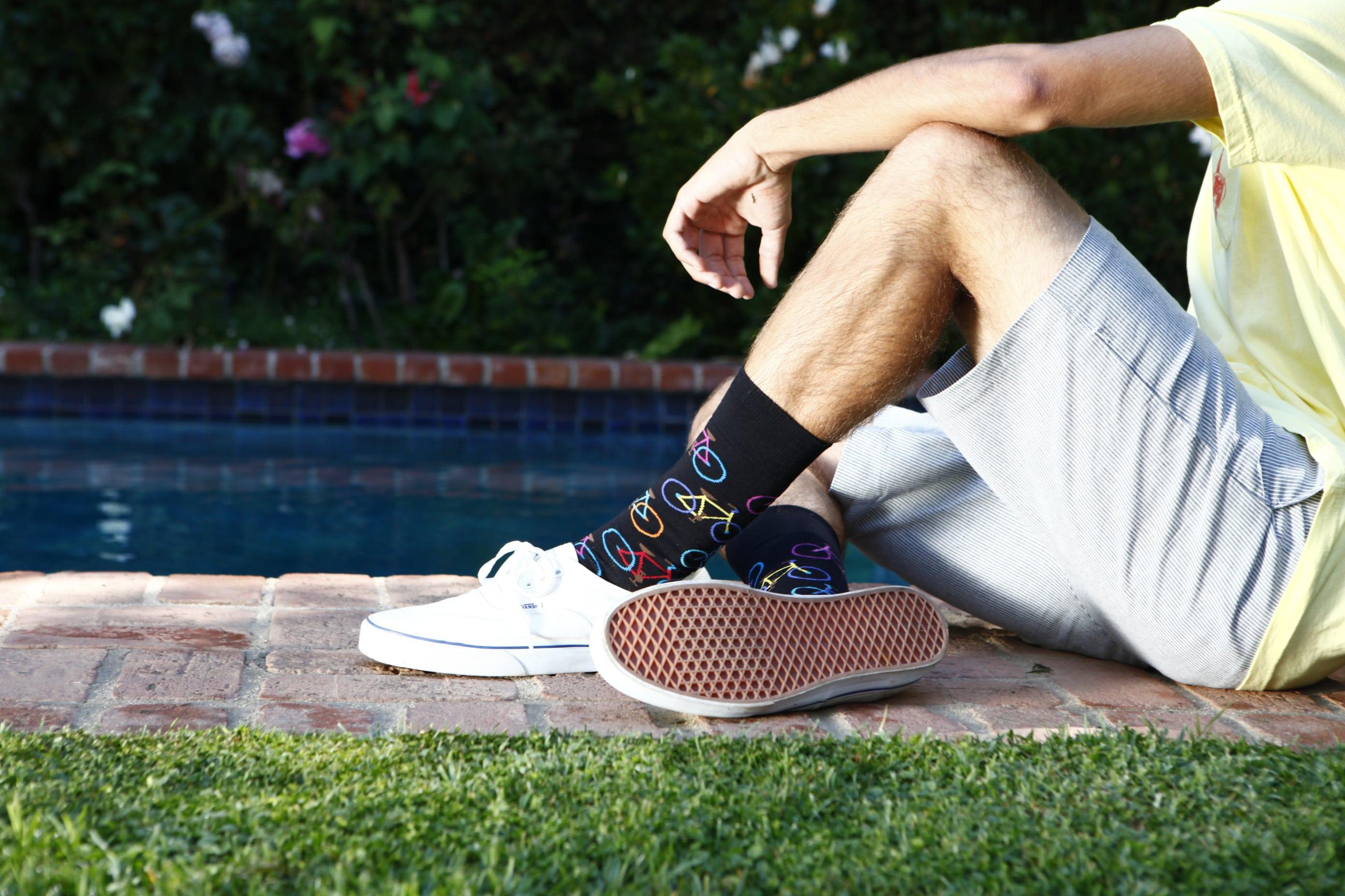 meias coloridas masculina c