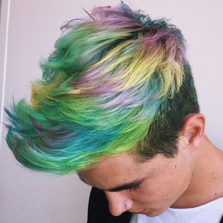 cabelo colorido masculino homens que se cuidam e