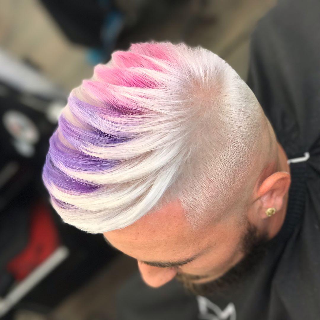 cabelo colorido masculino homens que se cuidam f