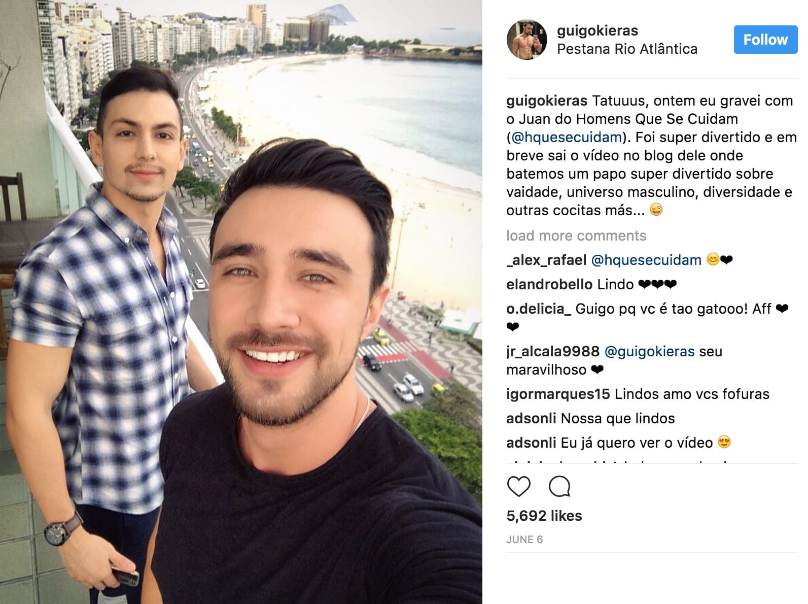 juan alves do homens que se cuidam e guigo kieras do fora da casinha barbeia e fala