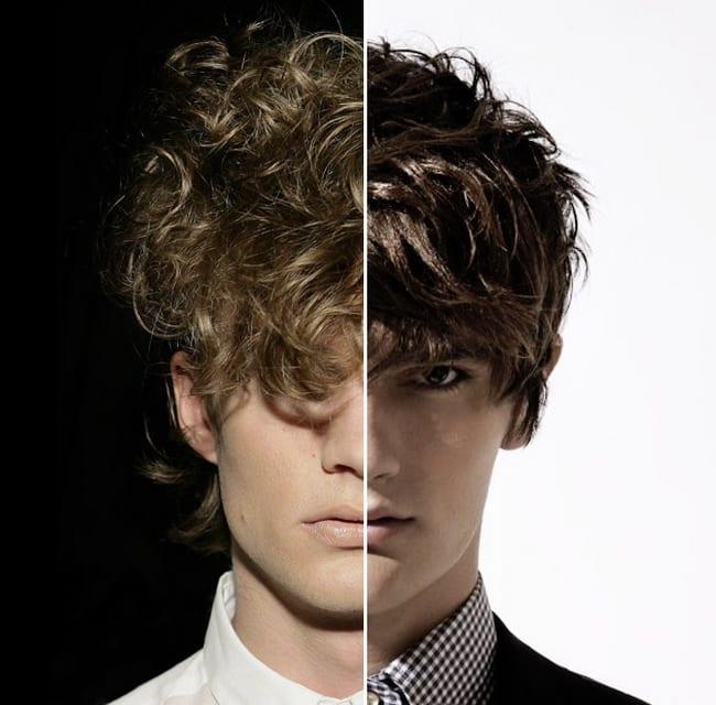 escova progressiva masculina antes e depois