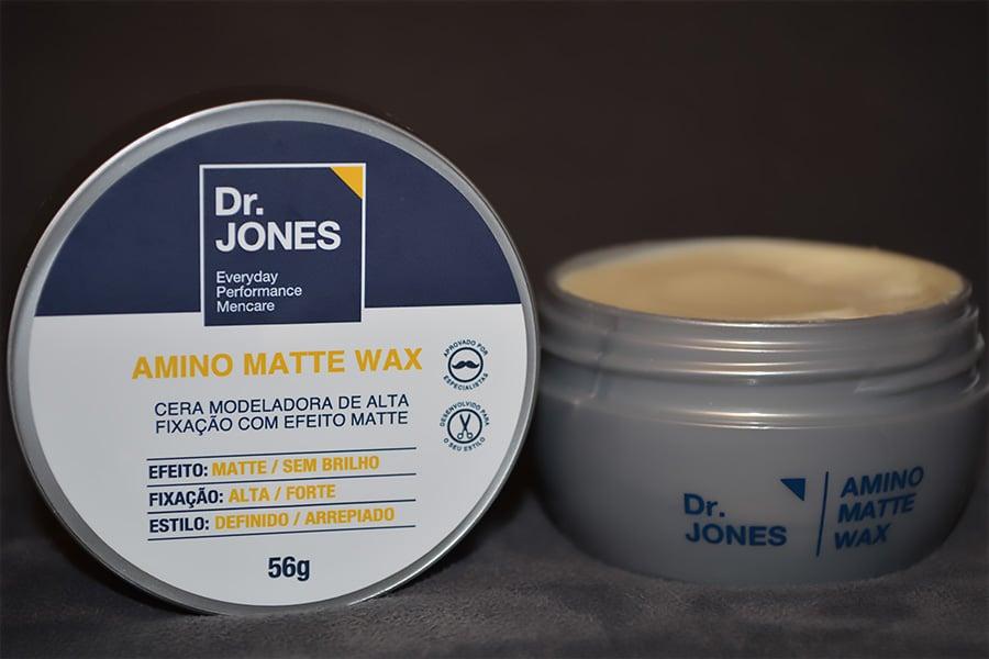 a cera amino matte wax da dr jones por homens que se cuidam juan alves