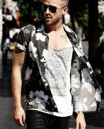 camisa tropical masculina homens que se cuidam por juan alves fdd