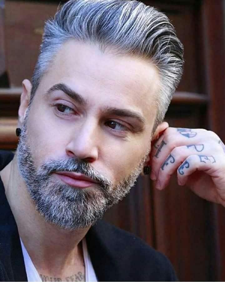 como afinar o rosto masculino barba comprida