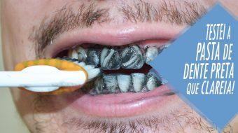 pasta de dente preta que clareia os dentes CAPA