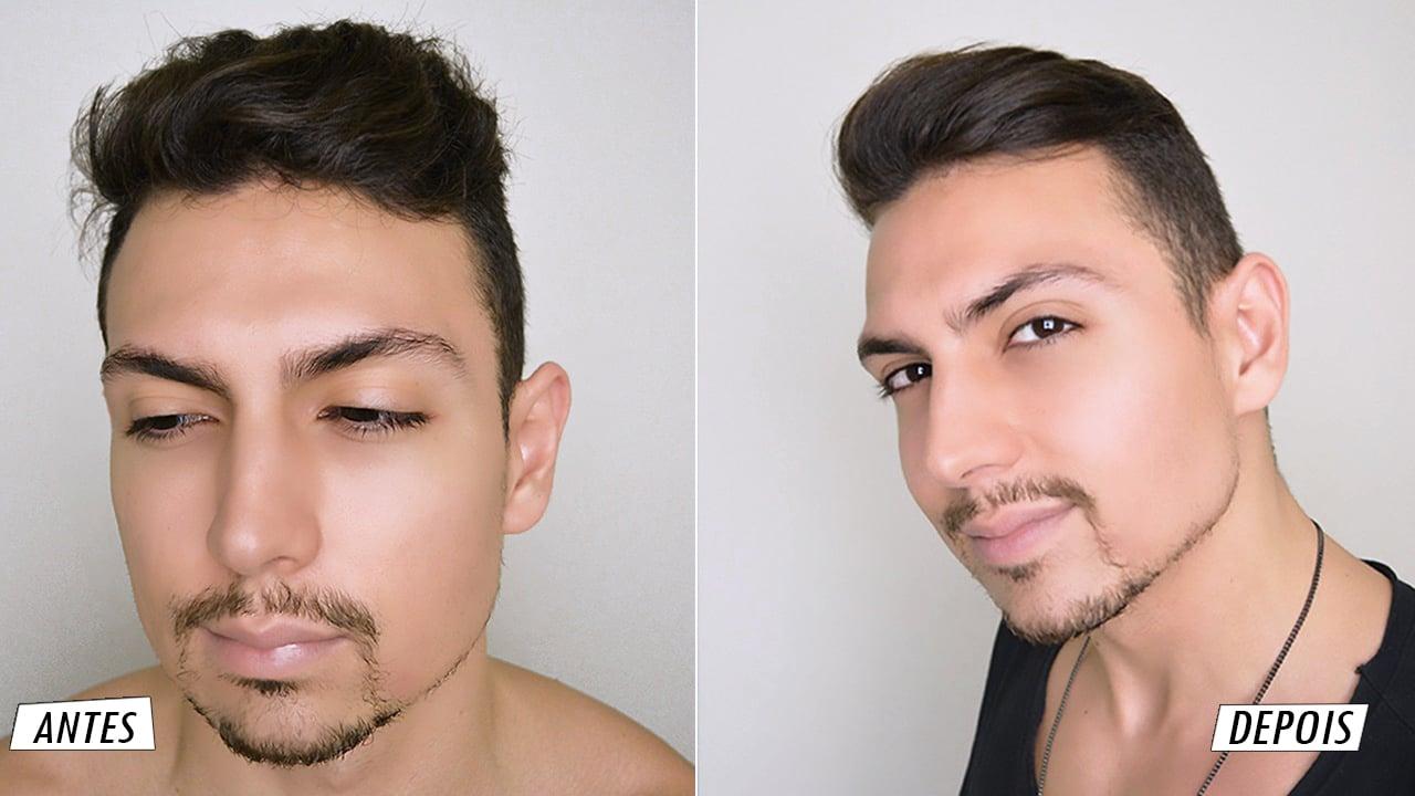 antes e depois do liso ja homens que se cuidam por juan alves capa youtube e blog b