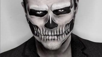 maquiagem masculina de halloween a b