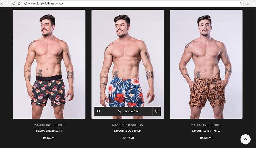 Moda Praia Masculinas 2018  Lojas de Sungas e Shorts de Praia ... b74ecf0831d53