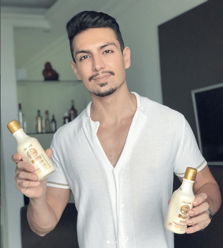 Shampoo e Condicionador Absolut da Inoar homens que se cuidam por juan alves a