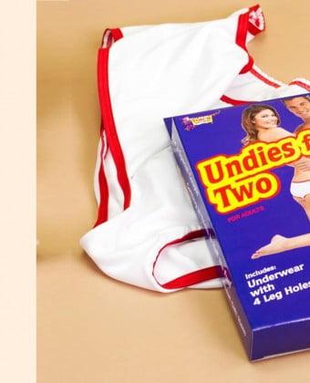 cueca 2 em 1 Underwear bizarra pro dia dos namorados a