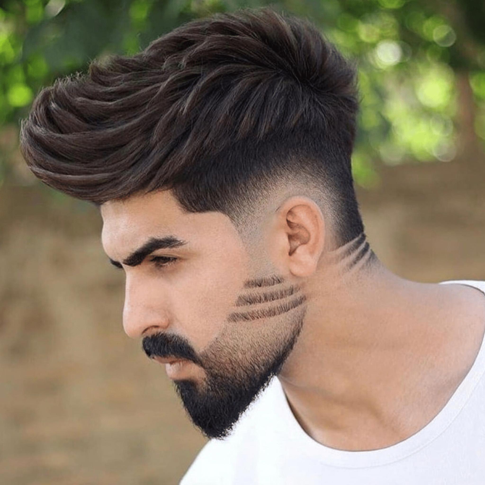 barba com listras