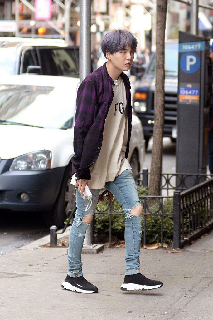 calça rasgada k-pop