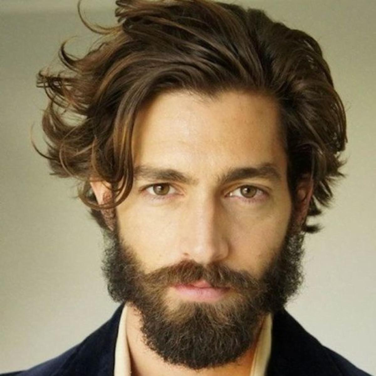 barba para cabelo médio