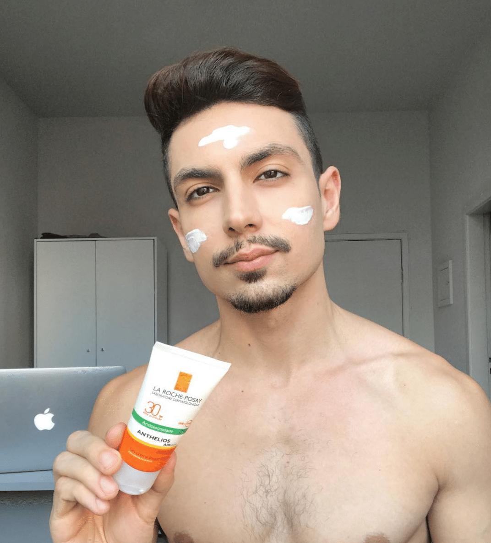 proteção com a pele masculina
