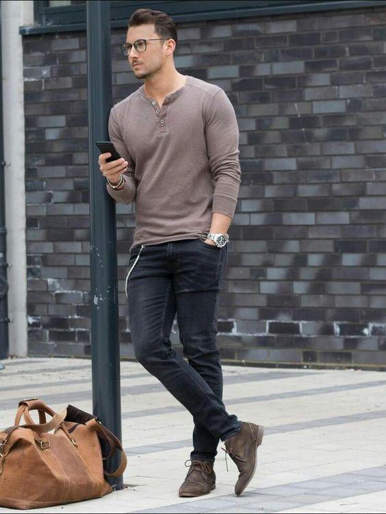 camisa longa masculina look