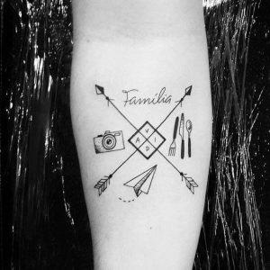 Tatuagem masculina de coisas que vocÊ gosta