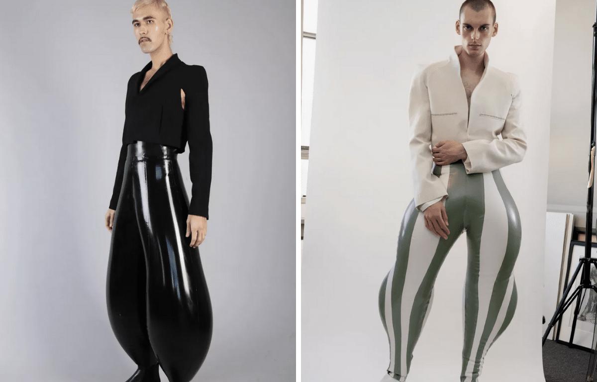 calça inflável está è venda em dois modelos