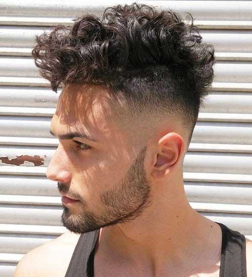 corte degradê masculino cabelo cacheado