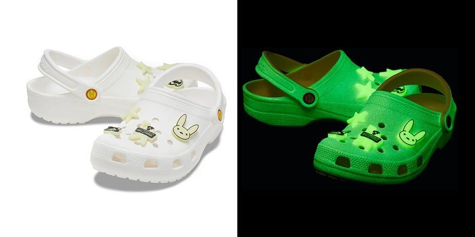 sapato Crocs que brilha no escuro