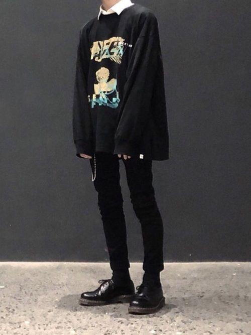 camiseta manga longa no estilo e-boy