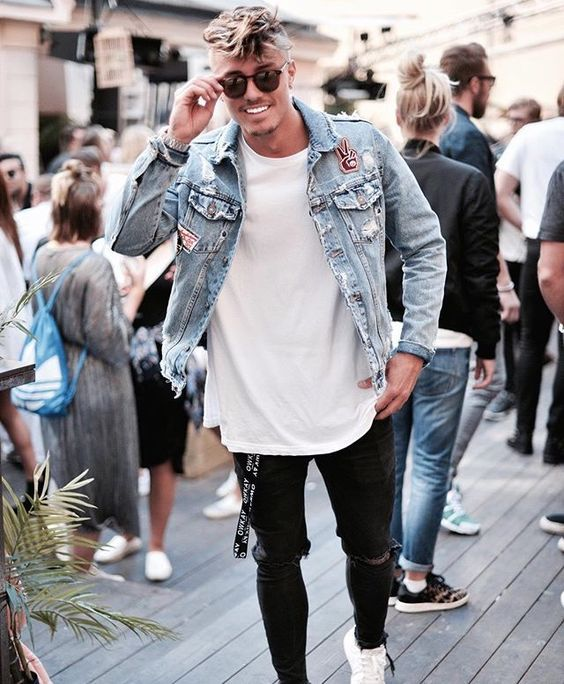 look masculino com calça preta